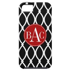 Black Monogrammed Barcelona Print iPhone 5 Covers  #monogram #customize #personalize #gift #iPhone5 #zazzle