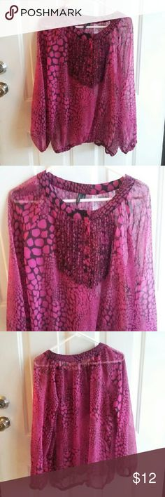 MADISON LADIES SHEER PINK TOP SZ L In great condition. from smoke and pet free home. Madison  Tops Blouses