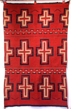 Rare Navajo Indian Classic Blanket w  Raveled Red c.1860s Superior  Condition. Native American ... bfeb6cffe