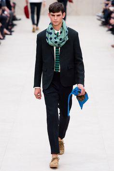 scarf » Burberry Prorsum Spring/Summer 2014