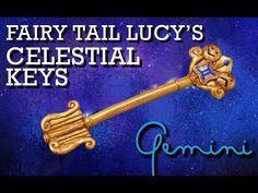 Fairy Tail Lucy's Celestial Key Polymer Clay Tutorial (Gemini) - YouTube