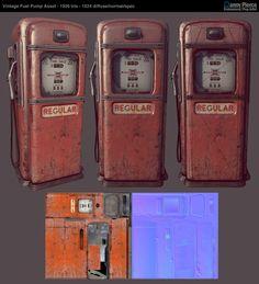 Gas Pump Game Asset by Danny Pierce, via Behance