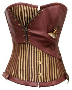 Vest Bodice with Pocket Watch (As with everything I post, it would have to be made with vegan materials.)