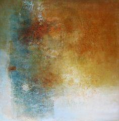 """Alvaro Pérez """"Meditación"""" Acrílico y  mixta sobre lienzo 120 x 120 cm. 2016"""