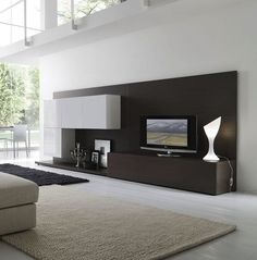 3-mobila tv moderna in alb si wenge decor living modern minimalist