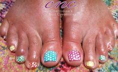 Shellac polkas multi coloured