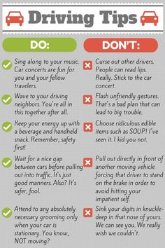 As young drivers begin to roam the roads, it is important to remind them of these friendly tips! Driving Tips For Beginners, Driving Test Tips, Driving Rules, Driving Teen, Driving Safety, Driving School, Driving Basics, Drivers Permit, Drivers Ed