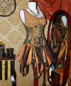 SALE  Victorian Steampunk Underbust Corset  by VeneficaCorsetry, $120.00
