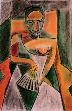 Pablo Picasso Woman with a fan 1908