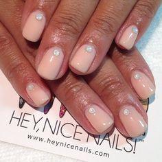 Simple bridesmaid nails #prestogel #101 #Swarovski #crystals... - Hey, Nice Nails!