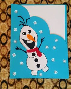 Frozen card invitation