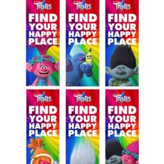 Trolls Bookmarks – Free Printable