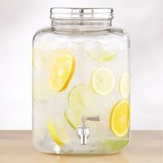 I do this - got the idea from a spa I went to once.  I put cucumber slices in mine!  Yum.