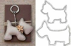 lovely felt dog patterns, for key ring or i can image the poodle hanging from a Paris bag as a charm, so cute 20 moldes que vc precisa ter Free sewing pattern for doggie keychains Fifi the French Poodle - made of felt and pom poms Hay q probaaaar! Felt Patterns, Stuffed Toys Patterns, Craft Patterns, Sewing Toys, Sewing Crafts, Sewing Projects, Felt Crafts, Fabric Crafts, Felt Christmas