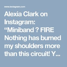 """Alexia Clark on Instagram: """"Miniband  FIRE  Nothing has burned my shoulders more than this circuit! You don't need heavy dumbbells!  40 seconds of each movement with…"""""""