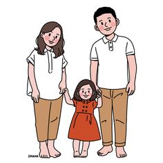 This is Sinana Illustrator based on fashion illustration. Family Illustration, Cute Illustration, Character Illustration, Family Drawing, Drawing For Kids, Chibi, Doodle Characters, Cute Couple Art, Anime Couples Drawings