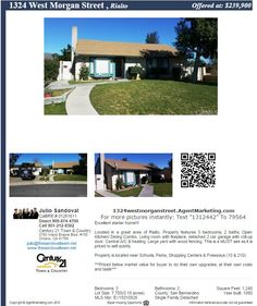 **Join us for an Open House this Saturday from 11AM - 2PM**  **HOUSE FOR SALE IN RIALTO** For additional pictures and details please visit the unique website: ... http://1324westmorganstreet.agentmarketing.com/  Call to schedule your private showing (909) 874-4700