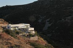 georges maurios builds hilltop home on patmos' island, greece.. I am for simple forms that do not scream to get your attention.