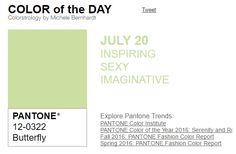 ...y el color de hoy es Mariposa, un color inspirador, sexy, imaginativo. Más info en http://www.pyma.com/tutoriales-y-trucos/general/y-los-colores-pantone-de-esta-semana-sonsemana-del-18-al-24-de-julio/