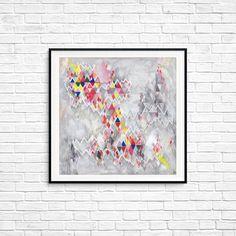 Geometric fine art, Urban art print, Geometric art, Waves, Square Print, Chevron art, Colorful Wall art, Room decor, Rhombus, Fine art print Chevron Art, Geometric Art, Colorful Wall Art, Urban Art, Wall Colors, Female Art, Line Art, Fine Art Prints, Poster Prints