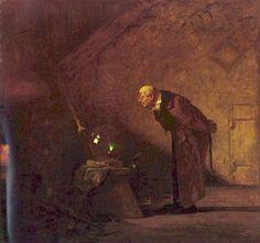 Carl Spitzweg – El Alquimista (ca. 1860)
