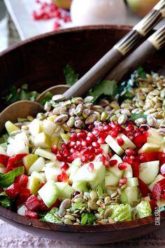 Pomegranate-Pistachio-Pear-Salad-with-Creamy-Pomegranate--Yogurt-Dressing