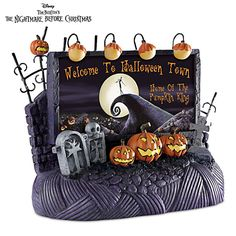 Welcome To Halloween Town Billboard Village Accessory | The Nightmare Before Christmas