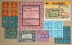 Look man, we were not present then 😬😬😬. Rationed cards, in Poland. Poland Country, Look Man, Good Old Times, Warsaw, Retro, Childhood Memories, Periodic Table, Norman, Humor