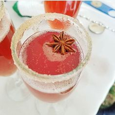 Delicious March wedding cocktail by our bride yesterday...Pomegranate Ginger Champagne! www.colorfulpalate.com