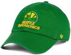 47 Seattle SuperSonics Hardwood Classics Clean Up Cap Nba Hats b7739b7a8f2e