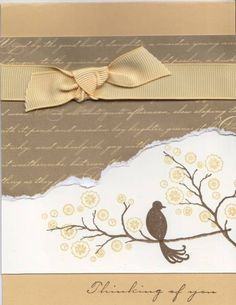 Saffron Bird on a Branch by LauriBColeman - Cards and Paper Crafts at Splitcoaststampers