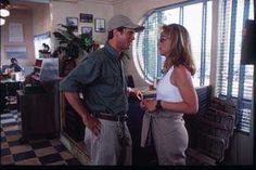Jonas asking which way she is heading, she sarcastically tells him she is headed toward the counter. Twister The Movie, Twister 1996, Cary Elwes, Helen Hunt, Magazine Images, Large Photos, Cover Photos, Movies, Films