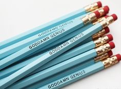 These hand-stamped pencils will make your days at work or school much more fun! #pencils #pencil #school #backtoschool #accessories
