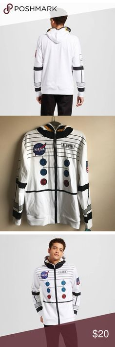 Buzz Aldrin Men's Hoodie Cool NASA astronaut zip up sweatshirt... Includes a full zip up mask on the hood... Side pockets... New with tags... from Buzz Aldrin's apparel line Buzz Aldrin Jackets & Coats Lightweight & Shirt Jackets