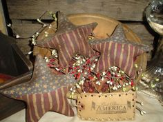 e Pattern Primitive Patriotic Americana by nannygoatprimitives, $4.00