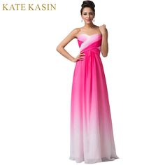 eb96116bc849 Vestido de festa Design A Line Green Red Blue Ombre Evening Gowns Chiffon  Formal Evening Dresses