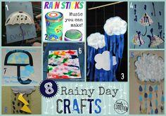 Artisanat Rain et Umbrella (Me & Marie) - Gants Preschool Themes, Preschool Kindergarten, Preschool Activities, Rain Umbrella, Umbrella Crafts, Spring Activities, Art Activities, Rain Crafts, Spring School