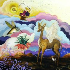 """""""Crown Imperial"""" by Josephine DeFrancis. Acrylic and oil on Canvas. www.josephinedefrancis.com Oil On Canvas, Moose Art, Crown, Artwork, Painting, Animals, Corona, Work Of Art, Animales"""