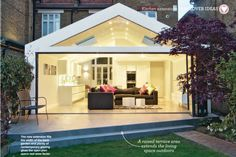 Ideal Home Magazine Feb 2013 - Plusrooms House Extension Design, Extension Designs, Extension Ideas, Ideal Home Magazine, Side Extension, Side Return, House Extensions, Open Plan Kitchen, Home Projects
