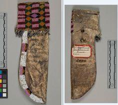 Yanktonai knife case, coll. by Washington Matthews, 1860s.  NMNH