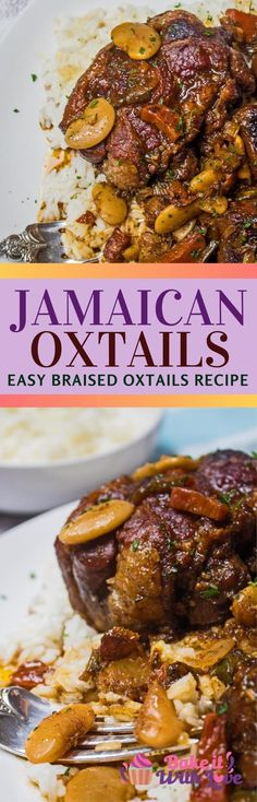 Jamaican Oxtail Stew, Beef Oxtail, Braised Oxtail, Oxtail Recipes, Jamaican Recipes, Curry Recipes, Baked Plantains, Canned Butter, Dinner With Ground Beef