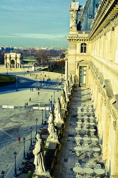 view from the Louvre, Paris
