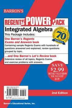 16 best algebra 1 regents images on pinterest school high school integrated algebra power pack regents power packs by lawrence leff ms 1359 fandeluxe Image collections