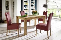 upholstered chairs- Polsterstühle Alessia upholstered chair (set of Ars NaturaArs Natura - Dining Table Cloth, Dining Bench, Dining Chairs, Diy Esstisch, Reclaimed Wood Dining Table, Outdoor Furniture Sets, Outdoor Decor, Upholstered Chairs, Home Decor
