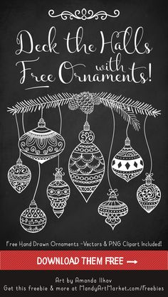 FREE PNG AI EPS Free Christmas Ornament Vectors 1