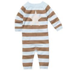 Striped Coverall- 9 months