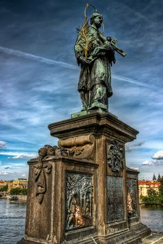 John of Nepomuk by Jan Brokoff statue at Charles Bridge in Prague, Czechia Prague Architecture, Visit Prague, Prague Czech Republic, Central Europe, Beautiful Places In The World, Bratislava, Culture Travel, Adventure Is Out There, Eastern Europe