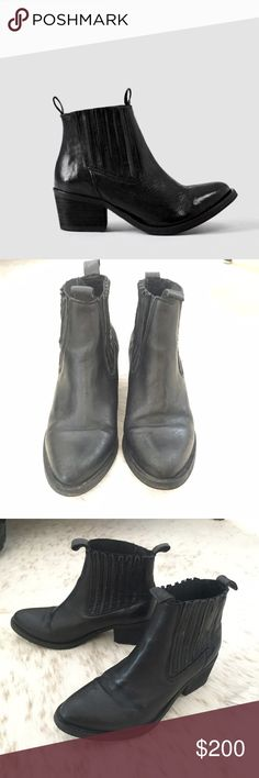 Allsaints Bonny Valley black ankle boot 39 Allsaints Bonny Valley ankle boot. Size 39. Hardly worn. Clean and in great condition. Beautiful boots. 2 1/4 inch heel. No box All Saints Shoes Ankle Boots & Booties