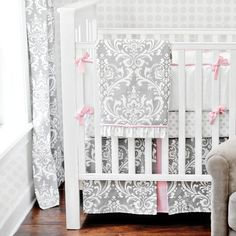 This is her bedding!!!! Stella Gray Baby Girl Crib Bedding Set from New Arrivals Inc