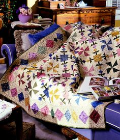 Quilt designer: Kim Diehl  From American  Patchwork & Quilting, August 2000  LOVE THIS!!!!!!!!!!